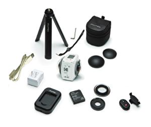 Kodak Pixpro 4KVR360  360° Aksiyon Kamera Çift Lens ve 4K Standart Paket Beyaz