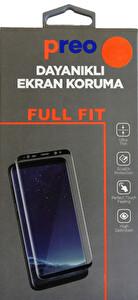 Dayanıklı Cam Ekran Koruma iPhone 8 Plus (Ön-Arka) Siyah Fullfit