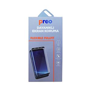 Preo Dayanıklı Ekran Koruma iPhone 8 Plus Flexible Fullfit Beyaz