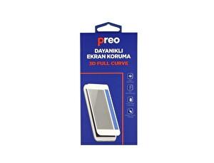 Preo iPhone 8 Plus (Ön-Arka) 3D Beyaz Full Curve Dayanıklı Ekran Koruma