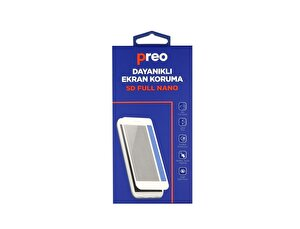 Preo iPhone 8 (Ön-Arka) Siyah 5D Full Nano Premium Dayanıklı Ekran Koruma