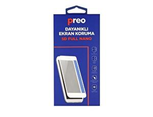 Preo Dayanıklı Ekran Koruma Samsung Galaxy J7 Pro J730 (Ön) 5D Full Nano Premium Siyah