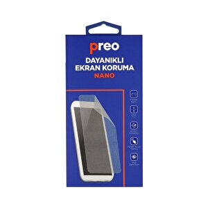 Preo Dayanaklı Ekran Koruma iPhone XS Max (Ön-Arka) Nano Premium