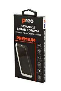 Preo Dayanıklı Ekran Koruma İPhone 7/8 (Ön) Privacy3D Full Curve