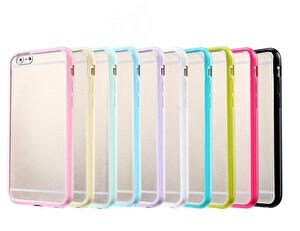 Preo Tpu Case iPhone 7 Polikarbon Telefon Kılıfı Mavi Kenar