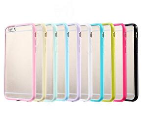 Preo Tpu Case iPhone 8 Polikarbon Telefon Kılıfı Mavi Kenar