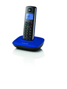 Motorola T 401+ Çağrı Engelleme Handsfree ve Mavi Işıklı Ekran Özellikli Mavi Siyah Dect Telefon