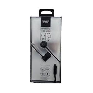 Powerway M9 Siyah Mikrofonlu 3.5mm Stereo Silikonlu Kulak İçi Kulaklık