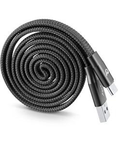 Cellularline Siyah Type-C Sarılabilir Yo-Yo Kablo