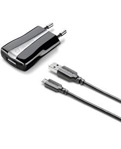 Cellularline ACHUSBKITMICROUSB2 5W Micro Usb Duvar Şarj Aleti (Kablo+Adaptor) Siyah