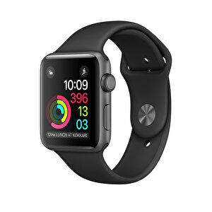 Apple Watch S1 42mm Space Grey Alüminyum Kasa ve Siyah Spor Kordon (MP032TU/A)