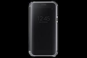 SAMSUNG A5 2017 CLEAR ViEW SiYAH CEP TELEFONU KILIFI