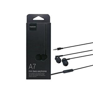 Powerway A7 Powerbass Mikrofonlu Siyah Kulak İçi Kulaklık