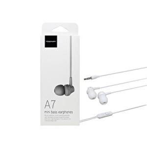 Powerway A7 Powerbass Mikrofonlu Beyaz Kulak İçi Kulaklık
