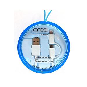 Çrea Micro Usb Mfi Lightining Kablo