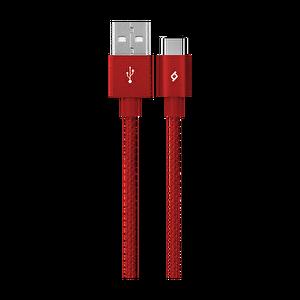 Ttec Alumicable Type-C Kırmızı Şarj Kablosu