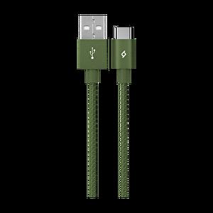 Ttec Alumicable Type-C Haki Yeşili Şarj Kablosu