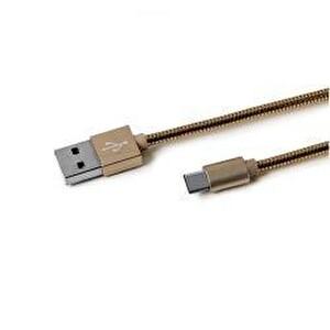 Celly Usb Type-C Snakeds Altın Type-C Metal Kablo