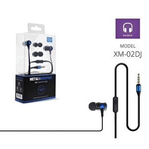 Powerway PWR-XM02Dj Mavi Extra Deep Bass Mikrofonlu Kulak İçi Kulaklık