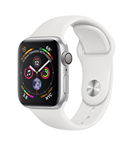 Apple Watch S4 40mm Silver Alüminyum Kasa ve Beyaz Spor Kordon (MU642TU/A)