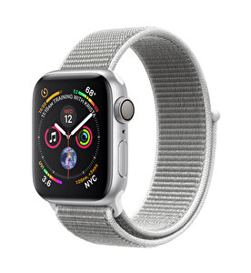 APPLE WATCH SERIES 4 GPS, 40MM SILVER ALUMINIUM CASE WITH SEASHELL SPORT LOOP(MU652TU/A) ( TESHIR )