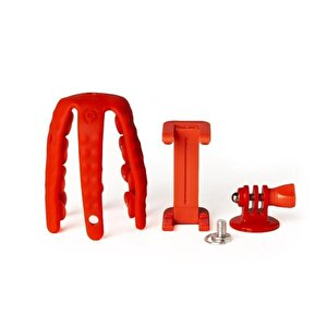 Squiddy Flexible Mini Tripod Kırmızı