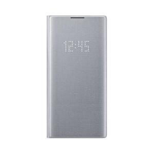 Samsung Galaxy Note 10+ LED View Kılıf - Gümüş Gri