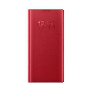 Samsung Galaxy Note 10 LED View Kılıf - Kırmızı