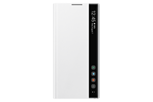 Samsung Galaxy Note 10+ Clear View Kılıf - Beyaz