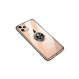 Preo My Case iPhone 11 Pro Armour Rings Şeffaf/Siyah 3 in 1 Stand&Manyetik Telefon Kılıfı