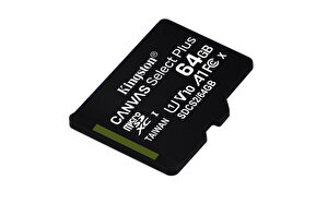 Kingston 64GB Micro SDXC Canvas Select Plus 100R A1 C10 CARD + Adaptör