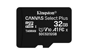 Kingston 32GB MicroSDHC Canvas Select Plus 100R A1 C10 CARD + Adaptör