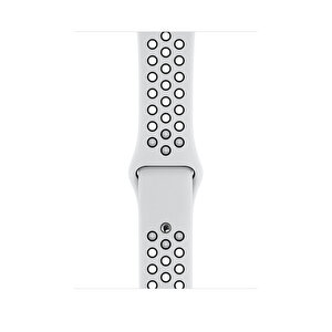 Apple Watch 44mm Saf Platin Siyah Spor Kordon - Normal Boy