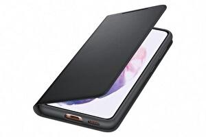 Samsung Galaxy S21 Akıllı Led View Telefon Kılıfı Siyah