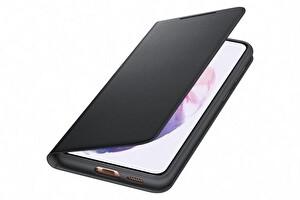 Samsung Galaxy S21+ Akıllı Led View Telefon Kılıfı Siyah