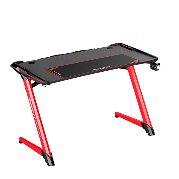 Adore Gaming Intro AGT-120-QK-1 RGB Oyuncu Masası Karbon Çelik Gövde Siyah Kırmızı