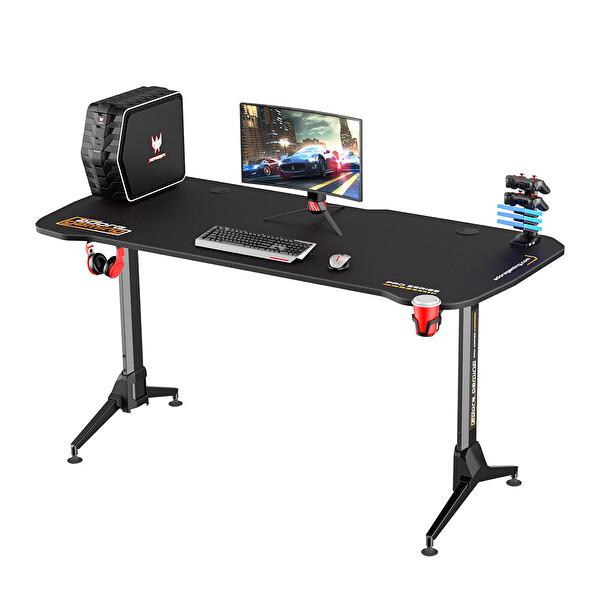 Adore Gaming Profesyonel AGT-160-QQ-1 Oyuncu Masası Karbon Çelik Gövde Siyah