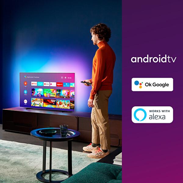 """Philips 55OLED805/12 55"""" 139 Ekran Ambilightlı 4K UHD OLED Android TV"""