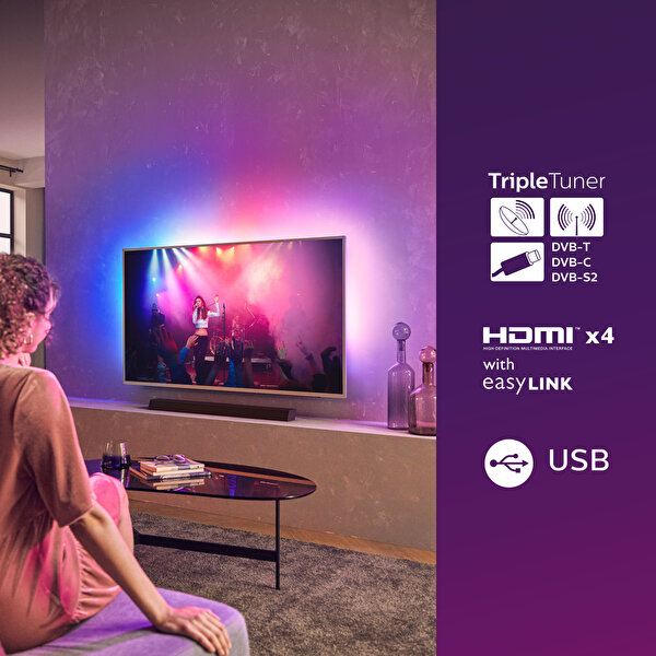 "Philips The One 58PUS8505/62 58"" 146 Ekran Ambilightlı 4K UHD Android TV"