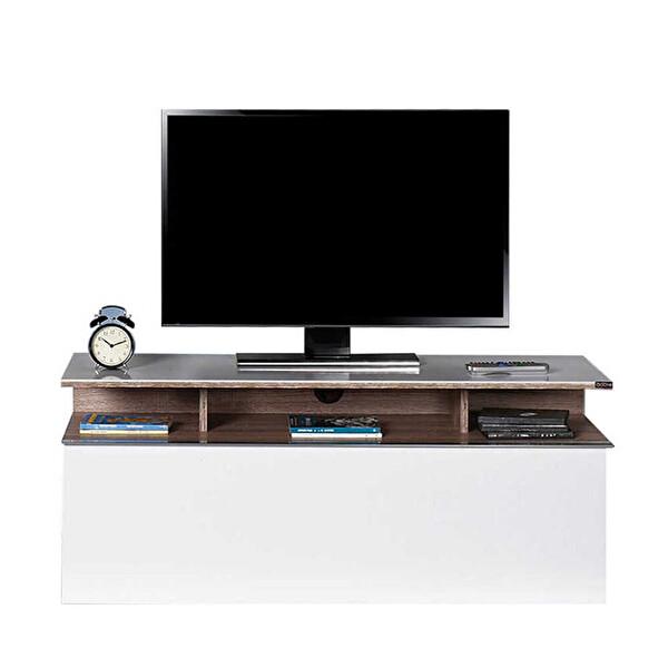Adore Vision TVC-529-LB-1 Çekmeceli TV Sehpası Latte Diamond Beyaz