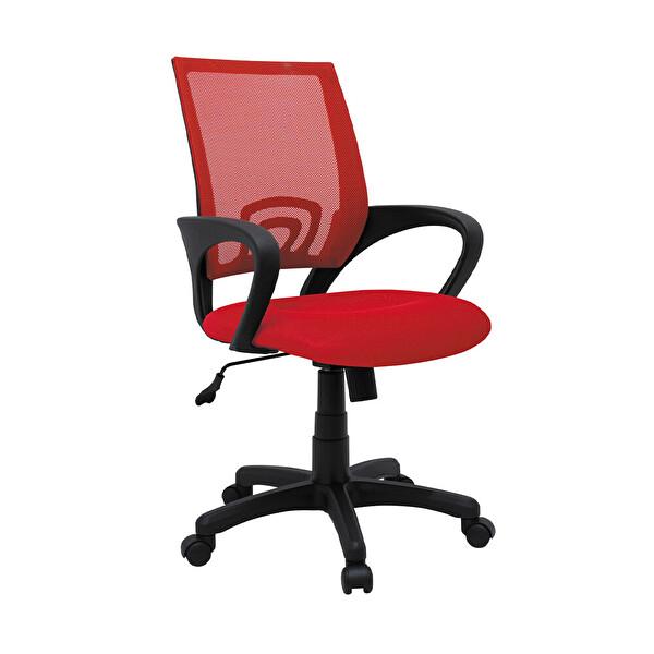 Adore Max Office Turbo MXC032FK File Sırtlı Çalışma Koltuğu Kırmızı