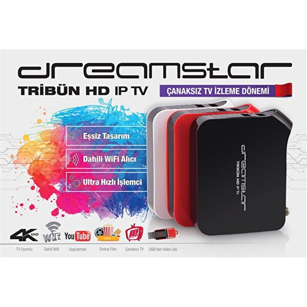 Dreamstar Tribün 4K IP-TV / Mini HD Uydu Alıcı