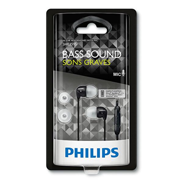 Philips She3595Bk/00 Mikrofonlu Kulakiçi Kulaklık Siyah
