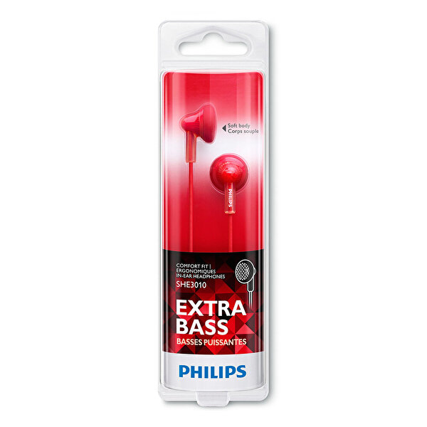 Philips She3010Rd/00 Kulakiçi Kulaklık Kırmızı