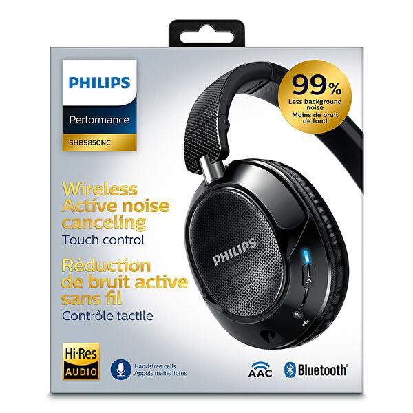 Philips Shb9850Nc Bluetooth Mikrofonlu Siyah Kulak Üstü Kulaklık