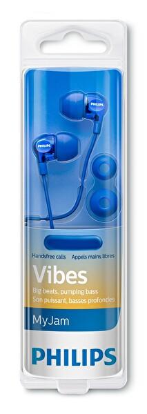 Philips She3705Bl/00 Mikrofonlu Kulakiçi Kulaklık - Mavi