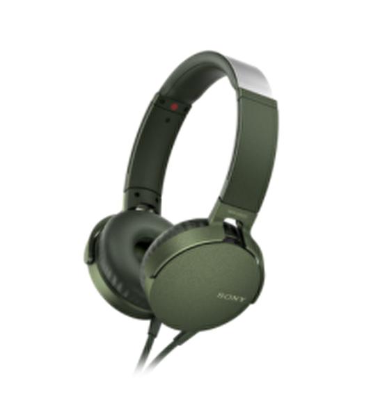 Sony Mdrxb550Apg.Ce7 Extra Bass Kulak Üstü Kulaklık Yeşil