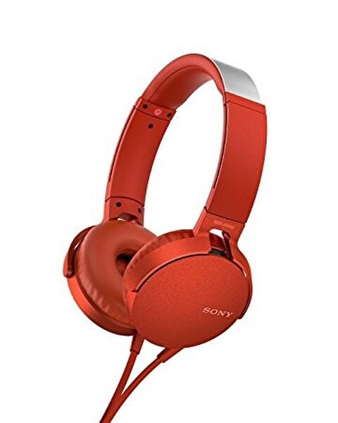 Sony MDRXB550APR.CE7 Kırmızı Kafabantlı Extra Bass Kulaklık ( OUTLET )