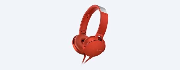 Sony Mdrxb550Apr.Ce7 Extra Bass Kulak Üstü Kulaklık Kırmızı