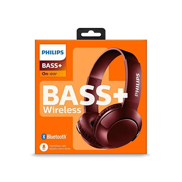 Philips SHB3075Rd/00 Bass+ Mikrofonlu Bluetooth Kafabantlı Kulaklık Kırmızı